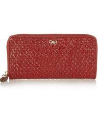 Anya Hindmarch Woven Leather Wallet - Lyst