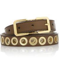 Burberry Prorsum - Eyelet Embellished Leather Belt - Lyst