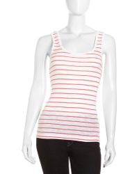 French connection Striped Scoopneck Tank - Lyst