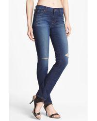 J Brand Rail Distressed Skinny Jeans Alta - Lyst