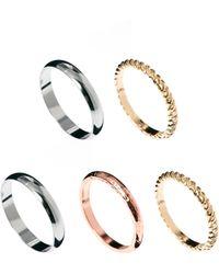 Asos Multipack Textured Rings - Lyst