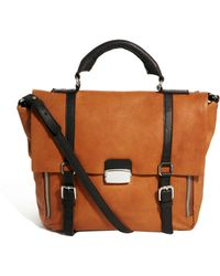 Asos Leather Satchel Bag with Side Zip - Lyst