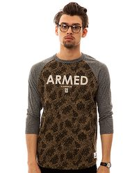 Crooks and Castles - The Armed Knit Raglan in Camo and Charcoal - Lyst