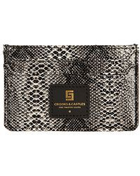 Crooks and Castles - The Reptillo Slim Wallet in Snakeskin - Lyst