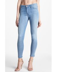 Mother The Looker Skinny Crop Jeans Welcome Home Garden Club - Lyst