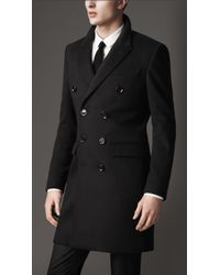 Burberry Wool Cashmere Peak Lapel Topcoat - Lyst