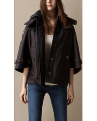 Burberry Felted Wool Cape - Lyst