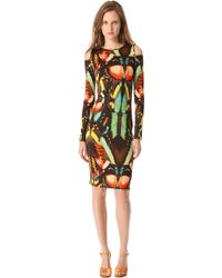 Jean Paul Gaultier Long Sleeve Print Dress - Lyst