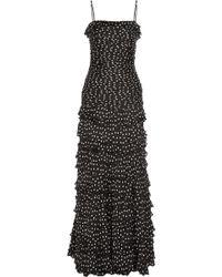 Moschino Cheap & Chic Polkadot Silk Chiffon Gown - Lyst