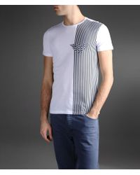 Emporio Armani T-shirt with Vertical Stripe Print - Lyst