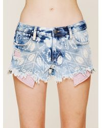 Free People Shibori Printed Cut Off - Lyst