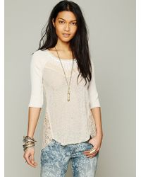 Free People We The Free Mix Up Hacci Tee - Lyst