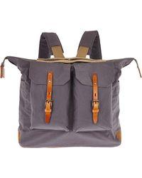 Ally Capellino - Grey Frank Waxed Canvas Backpack - Lyst