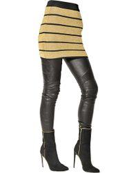 Balmain Striped Lurex Viscose Knit Skirt - Lyst
