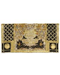Balmain Embroidered Silk Clutch - Lyst