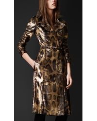 Burberry Prorsum Over-printed Python Trench Coat - Lyst