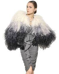 Givenchy Ostrich Feather Bolero Fur Jacket - Lyst