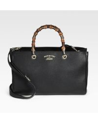 Gucci Bamboo-Handle Shopper - Lyst