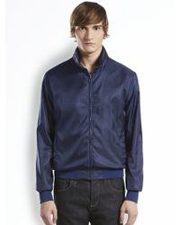 Gucci Micro Gg Pattern Nylon Jacket - Lyst