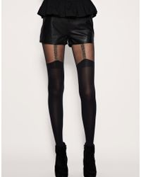 House of Holland - For Pretty Polly Chain Suspender Tights - Lyst