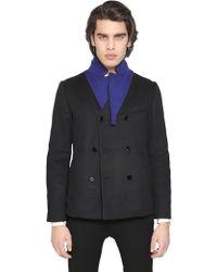 Iceberg - Double Wool Cloth Pea Coat - Lyst