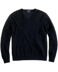 J.Crew Italian Cashmere V-Neck Sweater - Lyst