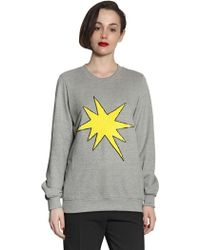 Markus Lupfer Explosive Star Cotton Fleece Sweatshirt - Lyst
