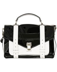 Proenza Schouler Ps1 Medium Patent Leather Satchel Bag - Lyst