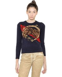 Ralph Lauren Blue Label Horse Pattern Wool Sweater - Lyst
