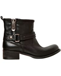 Strategia 40Mm Calfskin Ankle Boots - Lyst
