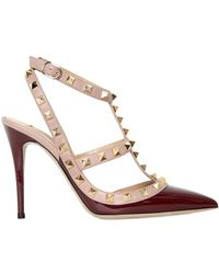 Valentino 100mm Rock-stud Patent Leather Pumps - Lyst