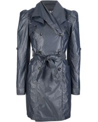 Emporio Armani Doublebreasted Trench Coat - Lyst