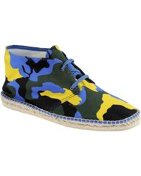 Italia Independent Camo Canvas Sneakers - Lyst