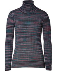 M Missoni Wool Blend Variegated Knit Turtleneck - Lyst