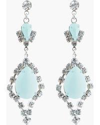 Tom Binns - Pastel Mint and White Crystal Madame Dumont Earrings - Lyst