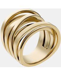MICHAEL Michael Kors Michael Kors Brilliance Large Intertwined Ring - Lyst