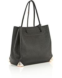 Alexander Wang Prisma Large Tote In Pebbled Black With Rose Gold - Lyst