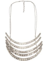 Delphine Charlotte Parmentier - Palladium Five Layer Necklace - Lyst