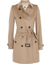 Burberry London Mid-Length Wool And Cashmere-Blend Trench Coat - Lyst