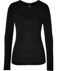 Donna Karan New York Top With Cutout In Black - Lyst
