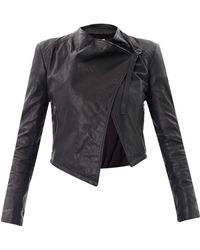 Helmut - Waterfall Front Leather Jacket - Lyst