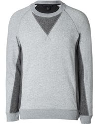 Marc By Marc Jacobs Cotton Sweatshirt In Chrome Melange - Lyst