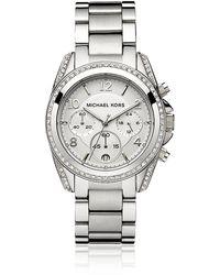 Michael Kors Blair 39Mm Chronograph Glitz Watch - Lyst