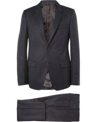 Alexander McQueen Navy Slim-Fit Jacquard Wool Suit - Lyst