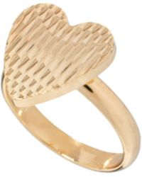 ASOS Collection Limited Edition Textured Heart Ring - Lyst