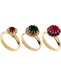 ASOS Collection Limited Edition Jewel Ring Pack - Lyst