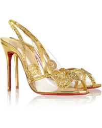Christian Louboutin Hameau Strass 100 Crystal Embellished Pvc Sandals - Lyst