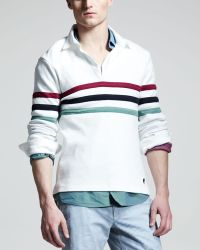 Michael Bastian - Striped Rugby Shirt - Lyst