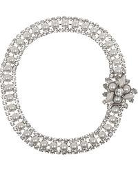 Miu Miu Plexiglass Crystal and Glass Pearl Necklace - Lyst