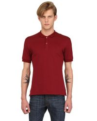 Alexander McQueen Skull Embroidered Cotton Piquet Polo - Lyst